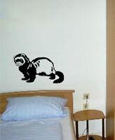Hurón Mascotas Animales Habitación Comedor Dormitorio Furgoneta Coche Adhesivo