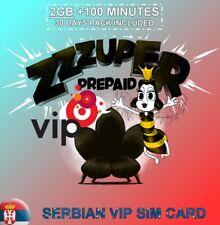New! Preloaded 2GB INTERNET SERBIAN VIP SIM CARD SERBIA BELGRADE
