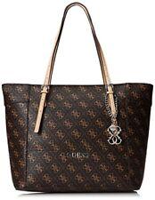 BN GUESS Marciano Delaney Brown Quattro G Logo Classic Medium Tote Purse Handbag