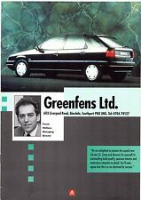 Citroen Greenfens Of Southport 1991 UK Market Sales Brochure AX ZX BX XM