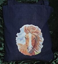 Denim Bolso de compras con un caballo Foto En. precio de venta