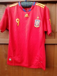 Adidas Spain Spainish Football Shirt age 15-16 years No. 9 Torres