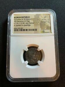 ROMAN REPUBLIC ( 116-115 BC ) NGC VF20