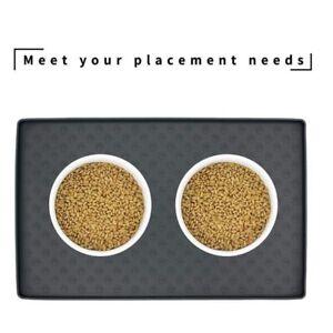 Pet Placemat Dog Food Mat Cat Waterproof Feeding Mat Bowl Pad Water Overflow