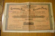 COMPAGNIA REALE DELLE FERROVIE SARDE LIRE 500 OBBLIGAZIONE TRENO 1878 AZIONE