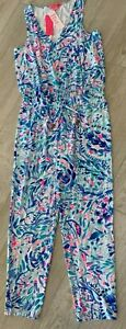 Lilly Pulitzer Paulina Jumpsuit Breakwater Party Wave Large NWT