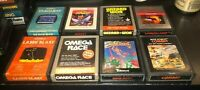Atari 2600 Lot of 8 Seaquest Joust Wizard Wor Omega Race Cosmic Creeps More