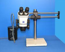 Zeiss Stemi 2000 Stereo Microscope , Boom Stand & Fiber light