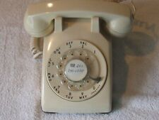 Vintage Electric At&T Beige Rotary Dial Telephone Desk Phone 500Dm