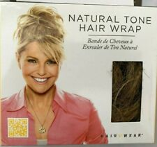 Hair2Wear Christie Brinkley Collection Natural Brown Blond Tone Hair Wrap Wig