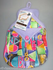 FASHY Wärmflasche mit kuschelweichen Vliesbezug ( mehrfarbig) Neu mit Anhänger