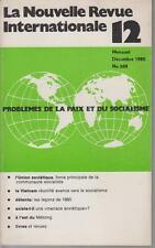 COLLECTIF / La Nouvelle Revue Internationale 12 - Décembre 1980 - N° 268