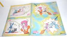 BIA LA SFIDA DELLA MAGIA Majokko megu chan 80s italy color book - albo colorare