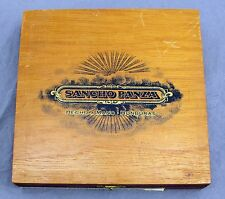 Sancho Panza Caballero Hecho A Mano Spanish Wood Cigar Box - Made in Honduras
