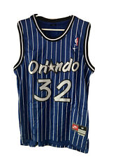 Orlando Magic Shaquille O'Neal Nike Jersey Blue Pinstripe Medium Retro Vintage