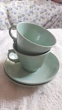 Retro English Wood's ware - Beryl two cups two saucers.