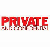 PRIVATE & CONFIDENTIAL  Labels and Stickers Self Adhesive 63x38mm