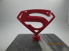 superman metropolis kryptonite  ratrod car hood ornamentpainted red