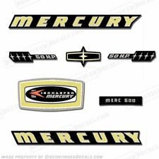 Mercury 1965 50hp Outboard Decal Kit - Reproduction Decals In Stock!