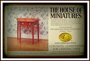 DOLL HOUSE OF MINIATURES HEPPLEWHITE SERVING TABLE KIT,  FINE ANTIQUE REPLICA