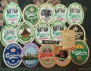 Denmark, Danmark nice lot of all different Carlsberg Beer Labels XI
