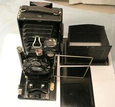 Ica Ideal III 6.5x9cm folding camera w Litonar 10.5cm f4.5 lens Super Clean