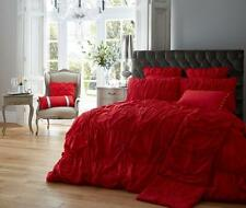 Alexander Luxury Duvet Cover Bedding Set 6 Colours All Sizes Available Double Red