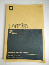 CAT Caterpillar D3 Crawler Tractor Parts Catalog Manual 3204 Eng SEBP1187, EXTRA