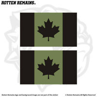 Canada Green/Black Subdued Flag OD Decal Sticker SET Canadian EMV