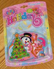 Lisa Frank Christmas Holiday Glitter Note Cards Sticker Gems - sealed package