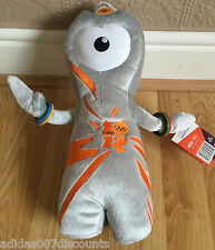 Olympic Mascota Wenlock Grande Peluche Peluche Oso de Oro Gris Londres 2012
