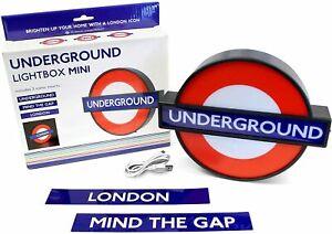 TFL London Underground Lightbox Mini With 3 Interchangeable Inserts USB New