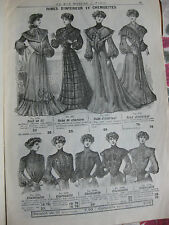 Catalogue hiver 1903-04 Au bon Marché Grand Magasin Paris mode Femme Costume