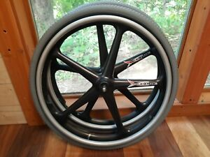 "24"" 1 3/8 Primo X-CORE Wheelchair 1/2"" Pins QUICKIE KI Wheel Rear Rims FLAT-FREE"