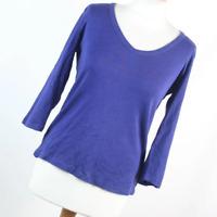 Marks & Spencer Womens Size 14 Blue Plain Cotton Basic Tee