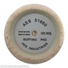 "100% Wool 9"" HEAVY CUT Buffing Pad Single-Sided (6"" Hook and Loop)"