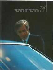Catalogue brochure Katalog Prospekt VOLVO 760 GLE 8 PAGES Année 1983