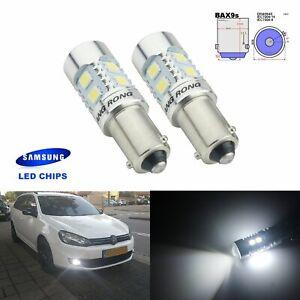 2x H6W BAX9S 10W SMD LED Standlicht Tagfahrlicht Blinklicht Birne Xenon Weiß 12V