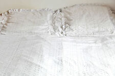 Housse de couette + 2 taies en broderie Anglaise