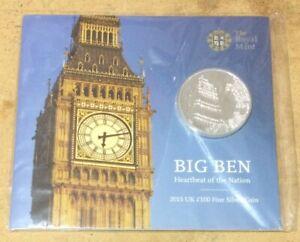 £100 SILVER COIN - BIG BEN ROYAL MINT FINE SILVER COMMEMORATIVE £100 COIN