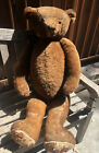 Giant 40 Antique Steiff  Bing Teddy Bear Humpback Glass Eyes Jointed