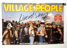 """Village People """"Live And Sleazy"""" 1979 Promo Poster Casablanca Record And Fi"""