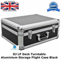 Aluminium Black Case To Fit The TECHNICS 1210 Turntable Flight DJ Deck Lockable