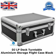 2 X Aluminium Black Case To Fit TECHNICS 1210 Turntable Flight DJ Deck Lockable