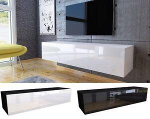 Meuble TV Lowboard HAUTE BRILLANCE modern bas armoire Blanc weiß COULEURS 140 cm