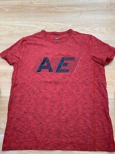 Medium Mens American Eagle Active Flex T-Shirt Running Football Gym Burnt Orange