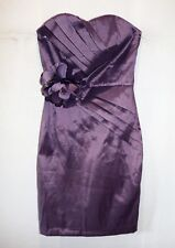 Hot Options Brand Violet Strapless Pleat Front Bodycon Dress Size 8 BNWT #TN107