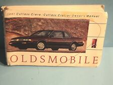 91 1991 Oldsmobile Cutlass Ciera/Cutlass Cruiser owners manual