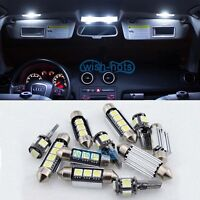 PURE WHITE INTERIOR CAR LED LIGHT BULBS PACKAGE KIT FOR FORD FOCUS II MK2