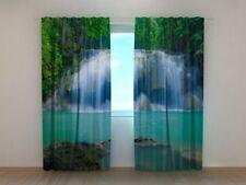 Curtain White Waterfall Wellmira Custom Made 3D Printed Nature Green Bedroom